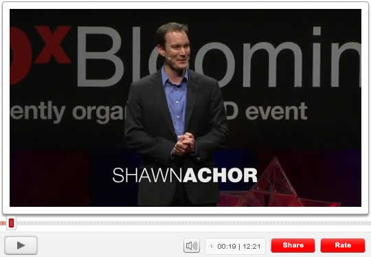 Shawn Achor talks about being happy on TED