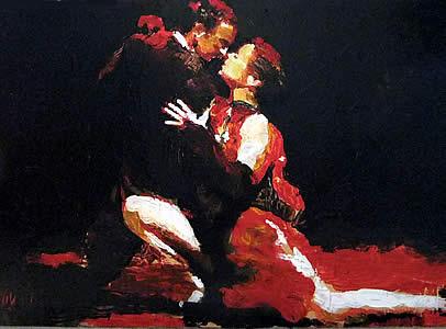 Atlanta Artist Paints Argentine Tango