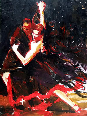 Tango Painting by David Wendel, Atlanta